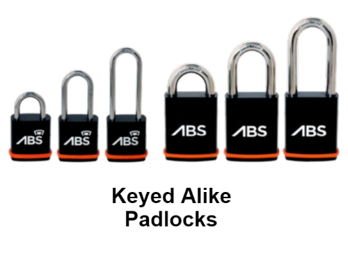 Avocet ABS Padlocks - Keyed Alike